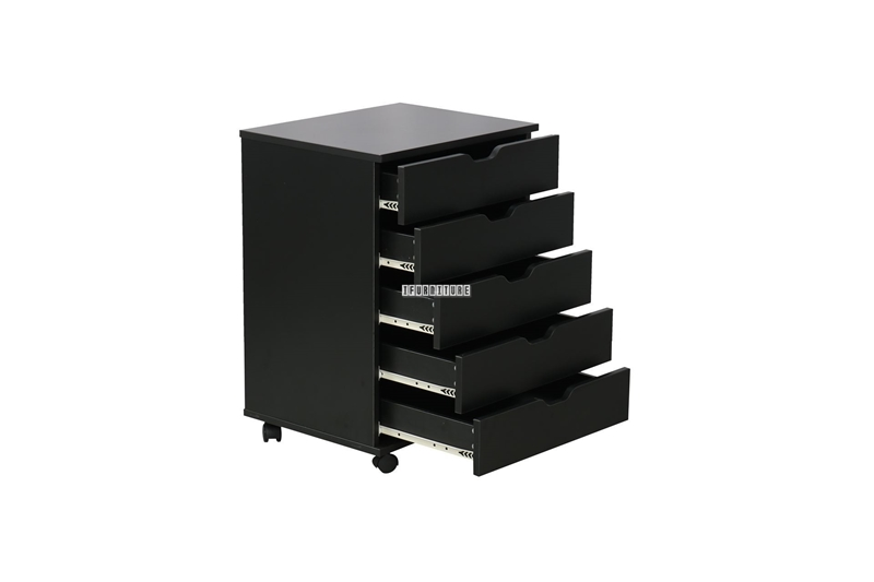 Picture of WOOSTER 5 DRAWER FILE CABINET *BLACK