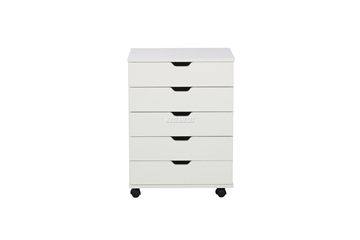 Picture of WOOSTER 5 DRAWER FILE CABINET *White