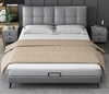 Picture of GIMORA PLATFORM BED FRAME *GENUINE LEATHER