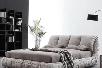 Picture of IBIZA PLATFORM BED FRAM *LIGHT GREY