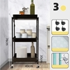Picture of Kelly 3-Tier Foldable Rolling Cart  IN 4 COLORS