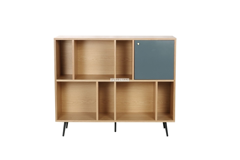 Picture of RIO  BOOKCASE *SOLID LACQUER WITH REAL LIGHT WALNUT VENEER