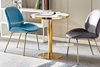 Picture of SYNE MARBLE TOP D80 ROUND DINING TABLE *GOLD