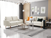 Picture of MAC LEATHER 3+2 SOFA RANGE IN WHITE