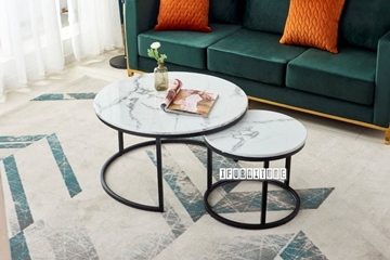 Picture of ORMAN MARBLE TOP NESTING TABLE *BLACK
