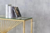 Picture of AUGUSTA RECTANGLE CLEAR GLASS HALL/CONSOLE TABLE * GOLD