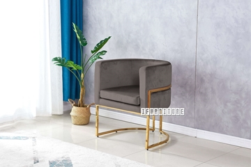 Picture of Seral lounge chair* GREY velvet
