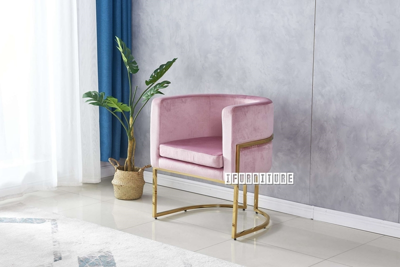 Picture of Seral lounge chair* PINK velvet