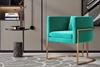 Picture of Seral lounge chair* GREEN velvet