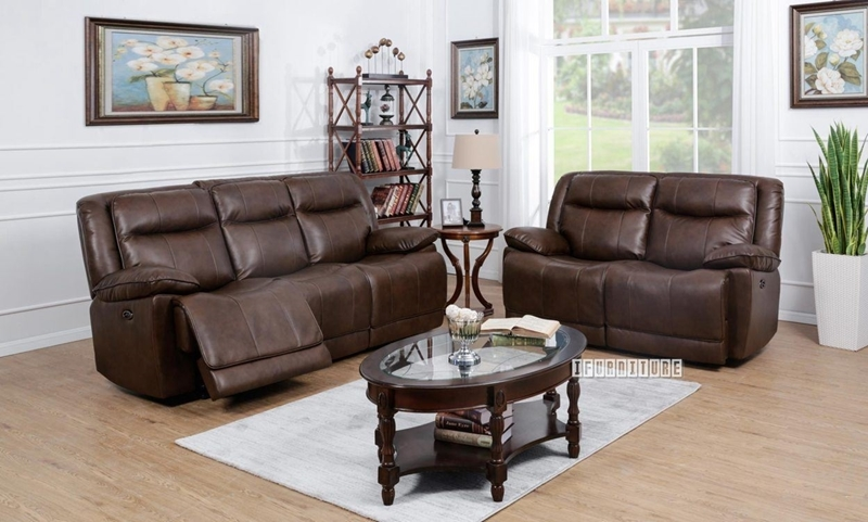 Picture of KANSAS Electric Power Reclining 1+2+3 SOFA RANGE*Leather Gel
