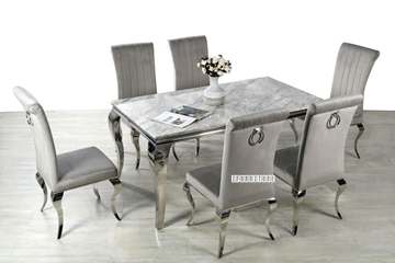 Picture of AITKEN 160 MARBLE TOP STAINLESS 7PC DINING SET