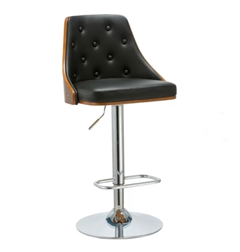 Picture of ELLA BAR STOOL *BLACK LEATHER