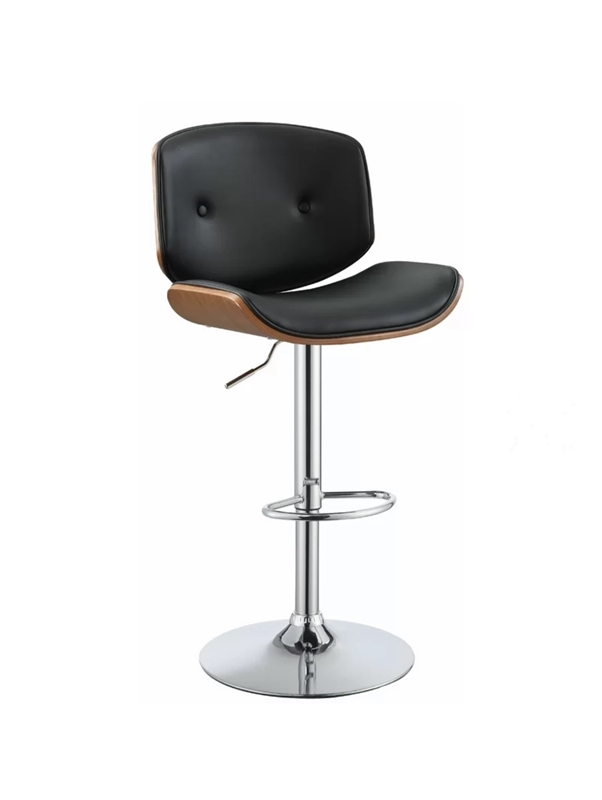 Picture of KINLEY BAR STOOL *BLACK LEATHER