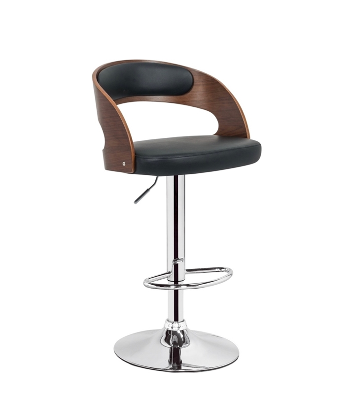 Picture of MILANO BAR STOOL *BLACK LEATHER