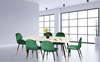 """Picture of BIJOK 63"""" 7PC DINING SET *WHITE MARBLE FINISHING"""
