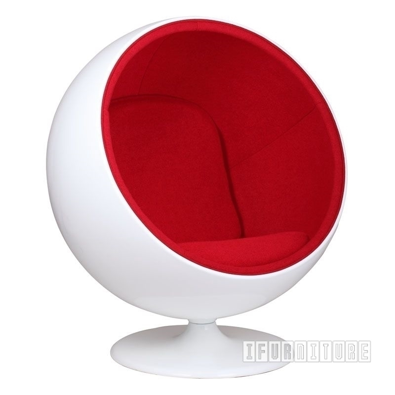 Picture of BALL Chair Red *Cashmere & Fiber Glass