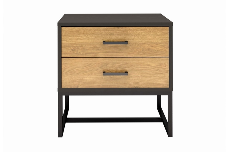Picture of AMSTER 2 DRAWER BEDSIDE TABLE