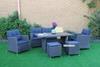 Picture of ISLA 6PC WICKER SOFA + DINING SET *ALUMINIUM FRAME