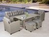 Picture of ALBANY 3+1+1 WICKER SOFA + DINING SET