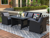 Picture of ORLY 4PC OUTDOOR WICKER SOFA + DINING SET