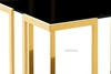 Picture of TANGO GLASS TOP GOLD STAINLESS FRAME COFFEE TABLE *BLACK