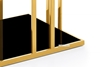 Picture of TANGO GLASS TOP GOLD STAINLESS FRAME END TABLE *BLACK