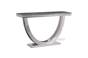 Picture of NUCCIO 140 MARBLE TOP STAINLESS STEEL CONSOLE TABLE *DARK GREY