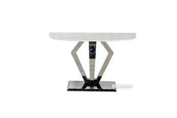 Picture of NUCCIO 150 MARBLE TOP STAINLESS STEEL CONSOLE TABLE
