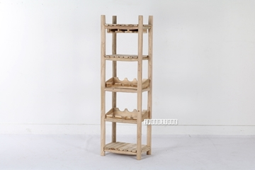 Picture of WILD BRANCH WINE SHELF 01 *SOLID TEAK