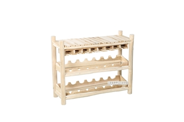 Picture of WILD BRANCH WINE SHELF 02 *SOLID TEAK
