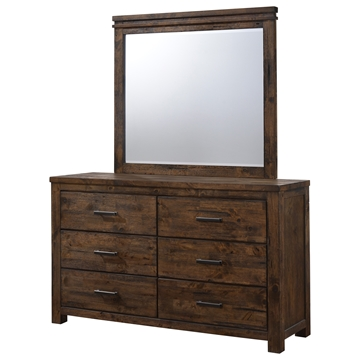 Picture of Ventura Solid wood Dresser with Mirror