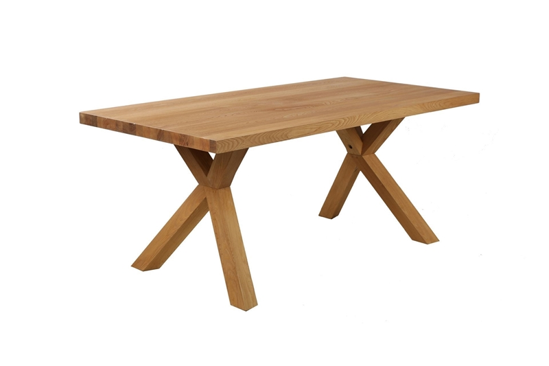 Picture of RIVIERA 180 SOLID OAK DINING TABLE *NATURAL