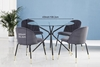 Picture of KORA 100 GLASS TOP DINING TABLE *BLACK AND GOLD