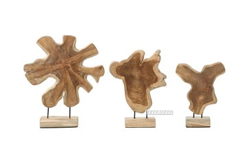 Picture of BARON SOLID TEAKWOOD DISPLAY ABSTRACT IN 3 SIZES