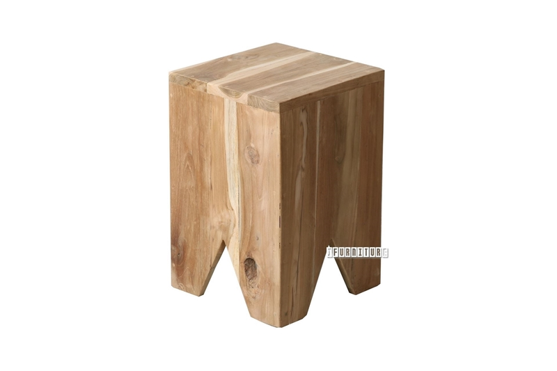 Picture of BARON SQUARE SOLID TEAK STOOL / SIDE TABLE