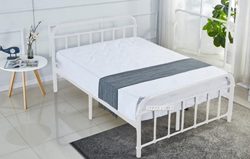 Picture of FLEMINGTON STEEL BED FRAME IN DOUBLE/QUEEN SIZE *WHITE