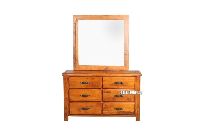 Picture of RIVERWOOD 6 DRW RUSTIC PINE DRESSING TABLE AND MIRROR