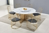 Picture of MARBELLO 7PC ROUND MARBLE TOP STAINLESS STEEL DINING SET *GOLD