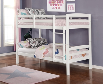 Picture of Artice Twin over twin bunkbed *White
