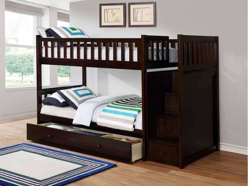 Picture of Jenafir  Twin over twin bunk bed *espresso