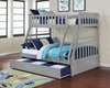 Picture of kean  Twin over Double bunk bed *Grey