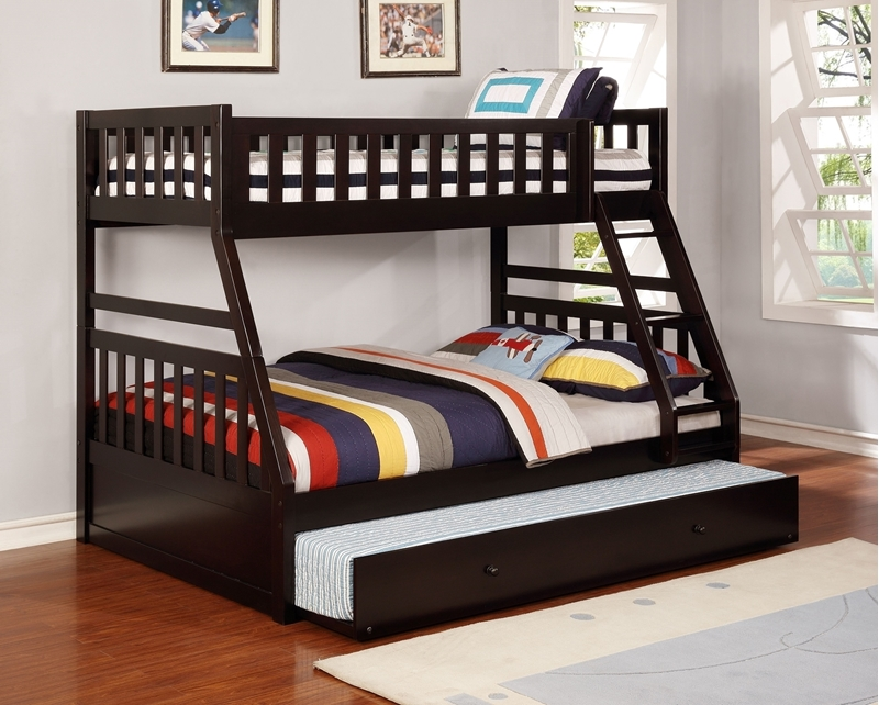 Picture of kean  Twin over Double bunk bed *Espresso