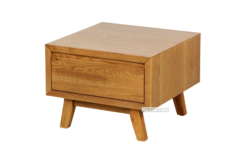 Picture of RETRO 1 DRAWER OAK side/end TABLE *MAPLE
