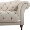 Picture of MARSALA 3+2+1 CHESTERFIELD TUFTED FABRIC SOFA RANGE *BEIGE