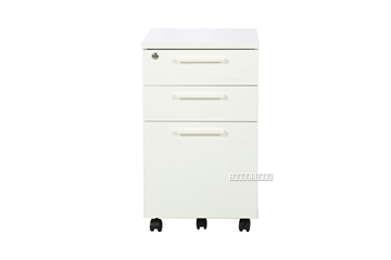 Picture of WOOSTER 3 DRAWER SUSPENSION FILE CABINET WITH LOCK *WHITE