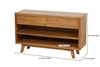 Picture of RETRO 2 DRAWERS OAK CONSOLE TABLE *MAPLE