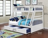 Picture of kean  Twin over Double bunk bed *white