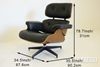 Picture of Eames Lounge Chair Replica *Italian Leather