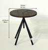 Picture of ELI Adjustable Side Table *Elm Wood