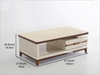 Picture of ARTISAN 1DRW COFFEE TABLE *MARBLE TOP